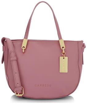 CAPRESE Faux Leather Women Shoulder Bag - Pink