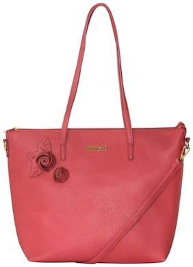 Oversized Shoulder Bag ( Pink )