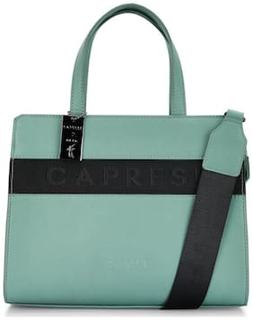 CAPRESE Green Faux Leather Handheld Bag