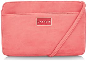 CAPRESE Red PU Solid Sling Bag