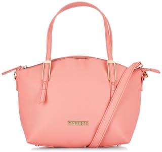 CAPRESE Small Solid Handheld Bag Pink