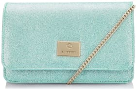 CAPRESE Green Faux Leather Solid Sling Bag