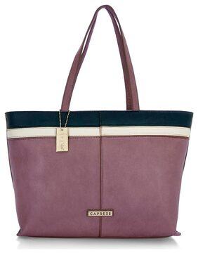 CAPRESE Women Faux Leather Tote Bag - Purple