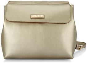 CAPRESE Gold Faux Leather Backpack