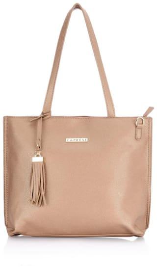 CAPRESE Brown Faux Leather Handheld Bag