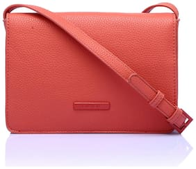 CAPRESE Coral Faux Leather Solid Sling Bag