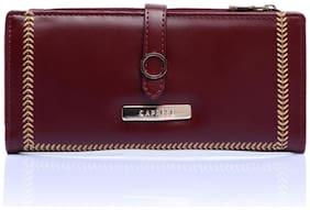CAPRESE Poppy Fold Wallet Medium Dark Red