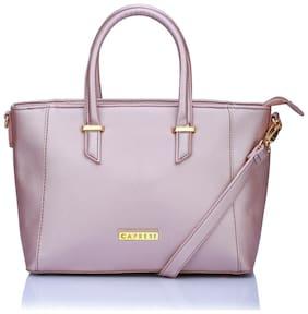 CAPRESE Faux Leather Women Handheld Bag - Pink