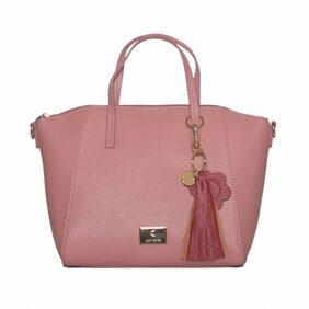 CAPRESE Women Faux Leather Satchel - Pink