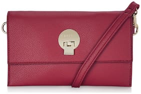 CAPRESE Red Faux Leather Solid Sling Bag