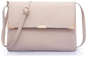 CAPRESE Beige Faux Leather Solid Sling Bag