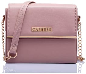 CAPRESE Women Solid Faux Leather - Sling Bag Pink