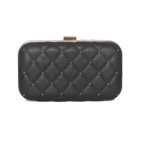 CAPRESE Women Solid Faux Leather - Clutch Black
