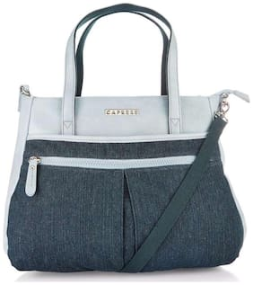 CAPRESE Blue Faux Leather Handheld Bag