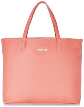 CAPRESE Pink PU Satchel