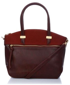 Caprese Tessa Satchel Medium Plum