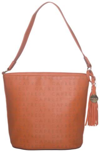CAPRESE Orange Faux Leather Solid Sling Bag