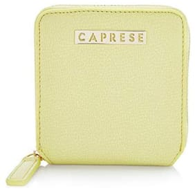 CAPRESE Women Yellow Leather Wallet