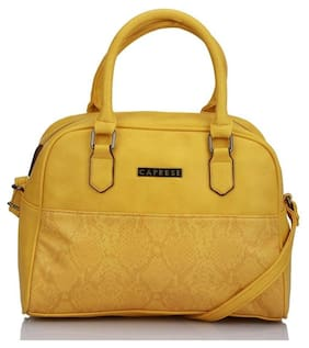 CAPRESE Faux Leather Women Handheld Bag - Yellow