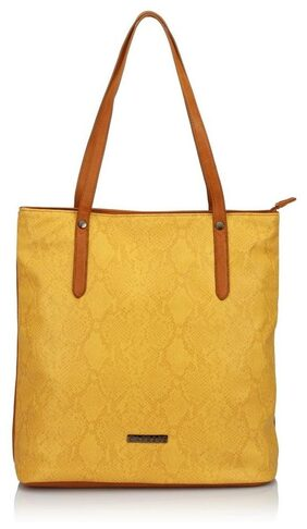 CAPRESE Women Faux Leather Tote Bag - Yellow