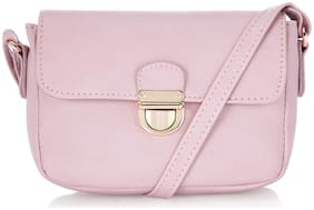 CAPRESE Pink Faux Leather Solid Sling Bag