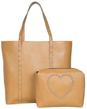 Bagsy Malone Women Faux Leather Tote Bag - Brown