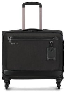 Carlton Heathrow Small Size Soft Luggage Bag ( Black , 4 Wheels )