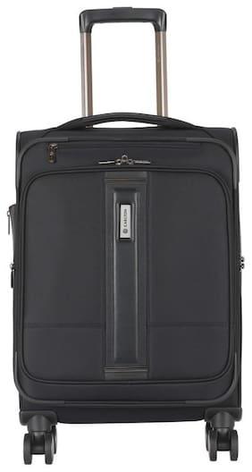Carlton Princeton Small Size Soft Luggage Bag ( Black , 4 Wheels )
