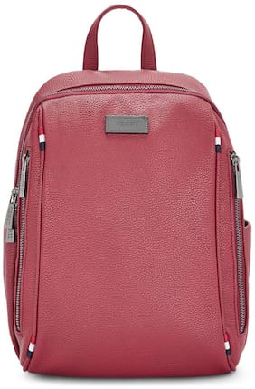 Ceriz Red Synthetic Backpack