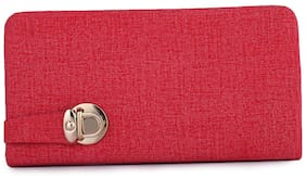 Craveforit Women Solid Polyester - Clutch Pink