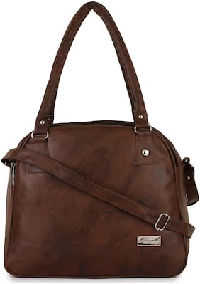 Craveforit Pu Women Handheld bag - Brown