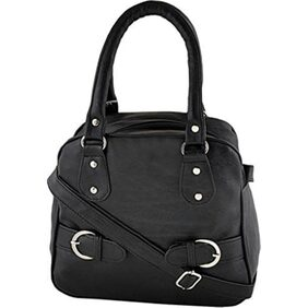 CHHAVI INDIA Women Faux Leather Handheld Bag - Black