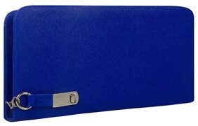 CHHAVI INDIA Women Faux Leather Clutch - Blue