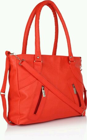 CHHAVI INDIA Women Faux Leather Handheld Bag - Red