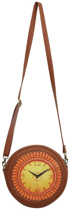 Divamm Multi Faux Leather Solid Sling Bag