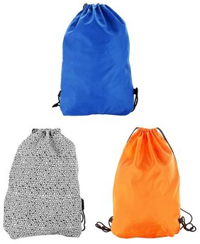 Combo Pack Of -3 Multi-colour 2.5 Litres Drawstring Bag