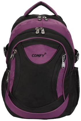 Comfy Black Polyester Backpack