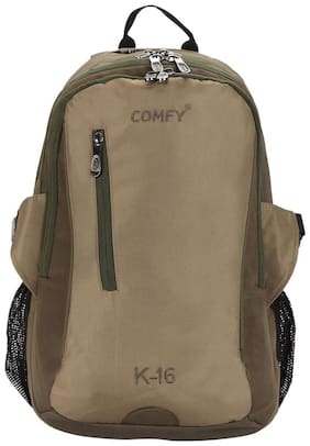 Comfy Brown Polyester Backpack