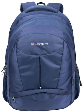 Cosmus Eden DX Navy Blue Polyester Waterproof Large Laptop Backpack eef12b2a17cce