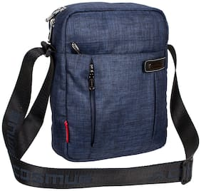 Cosmus Blue Polyester Sling bag