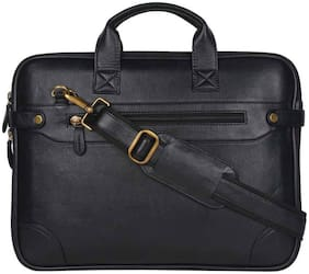 Cosykart Black P.U. Leather - 15.6 Inch Office Sling Bag