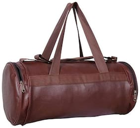 CP Bigbasket Leather Men Gym bag - Brown