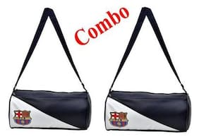 CP Bigbasket Pack of Two (2) FCB Stylish Gym Bag Duffle Bag Travel Bag (Leatherite,Size 30L)
