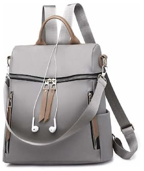 CRAFTWOOD Grey Synthetic Backpack