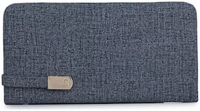 URBAN FAD Women Solid Fabric - Clutch Blue