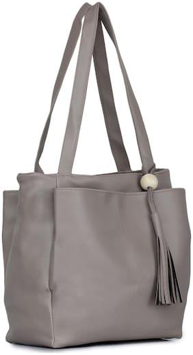 Craveforit PU Women Handheld Bag - Grey