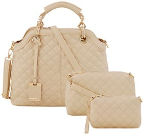 Mark & Keith Beige PU Handheld Bag