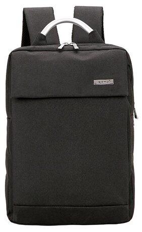 Creative shoulder Bag fashion hipster backpack computer Bag double backpack(Black) #SmileDay
