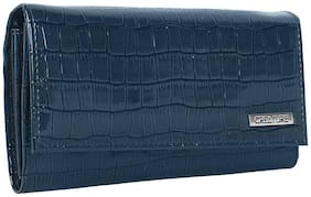 Creature Women Solid Leather - Clutch Blue