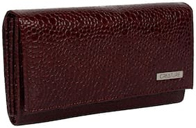 Creature Maroon Faux Leather Handheld